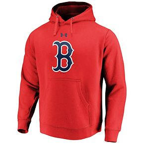 Men's Under Armour Red Boston Red Sox Commitment Team Mark Performance Pullover Hoodie