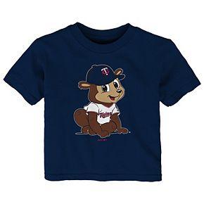 Infant Navy Minnesota Twins Baby Mascot T-Shirt