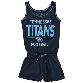 Girls Youth 5th & Ocean by New Era Navy Tennessee Titans Baby Jersey Romper