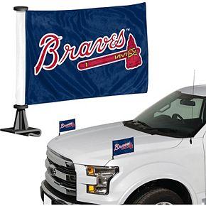 Atlanta Braves Auto Ambassador Flag Set