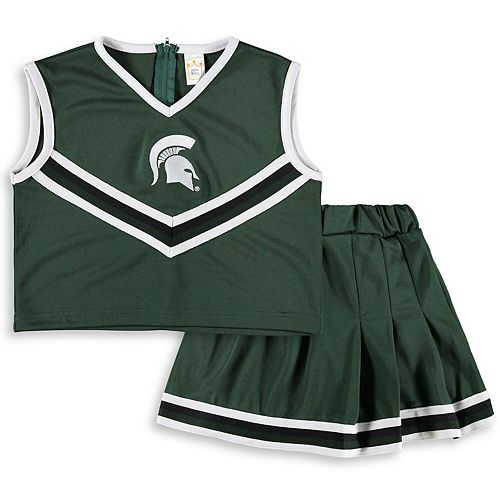 Girls Toddler Green Michigan State Spartans Two-Piece Cheer Set
