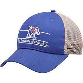 Men's The Game Royal Memphis Tigers Split Bar Trucker Adjustable Hat