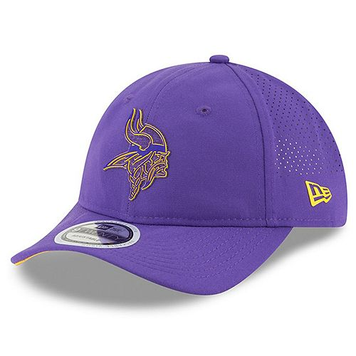Men's New Era Purple Minnesota Vikings 2018 Training Camp Primary 9TWENTY Adjustable Hat