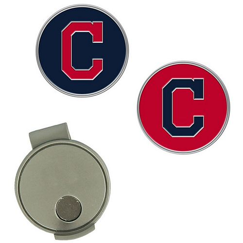 Cleveland Indians Hat Clip & Ball Markers Set