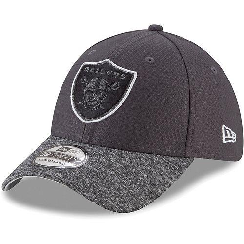 Youth New Era Graphite Oakland Raiders Popped Shadow 39THIRTY Flex Hat
