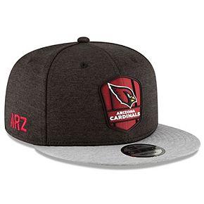 Men's New Era Black/Heather Gray Arizona Cardinals 2018 NFL Sideline Road Official 9FIFTY Snapback Adjustable Hat