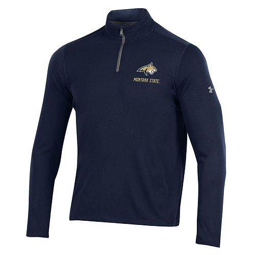 Men's Under Armour Navy Montana State Bobcats Threadborne Quarter-Zip Jacket
