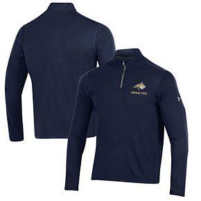 Men's Under Armour Navy Montana State Bobcats Threadborne Quarter-Zip Jacket