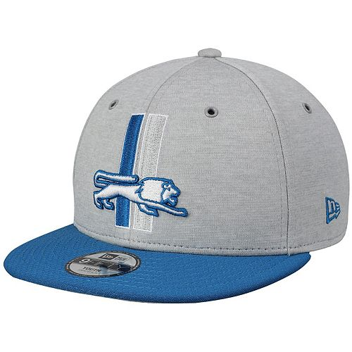 Youth New Era Heathered Gray/ Detroit Lions 2018 NFL Sideline Home Historic 9FIFTY Snapback Adjustable Hat