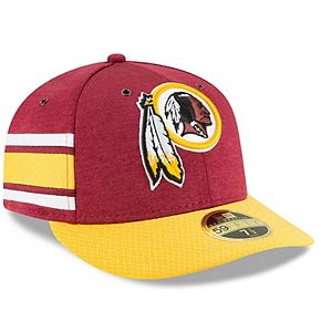 Men's New Era Burgundy/Gold Washington Redskins 2018 NFL Sideline Home Official Low Profile 59FIFTY Fitted Hat