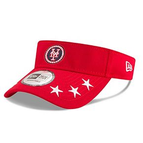 Men's New Era Red New York Mets 2018 MLB All-Star Workout Visor