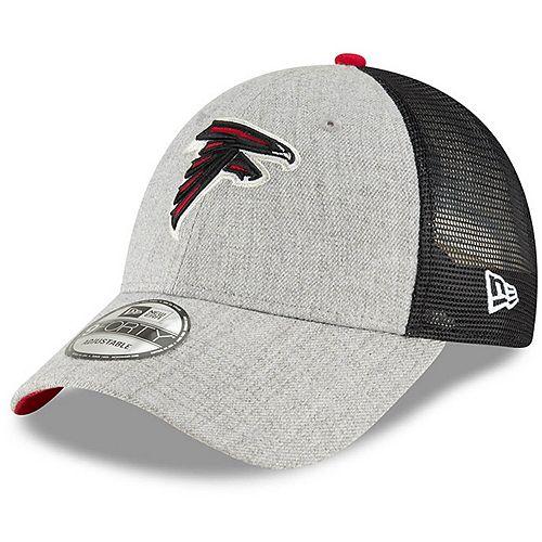 Men's New Era Heathered Gray/Black Atlanta Falcons Turn 9FORTY Adjustable Snapback Hat