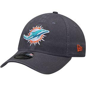 Men's New Era Miami Dolphins Graphite Core Classic Team Logo 9TWENTY Adjustable Hat