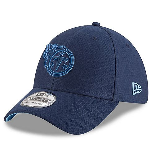 New Era Tennessee Titans 2018 NFL Training Camp Primary Navy 39THIRTY Flex Hat