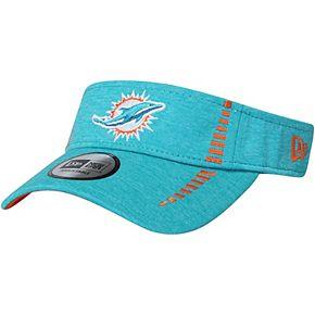 Men's New Era Heathered Aqua Miami Dolphins Speed Shadow Tech Visor