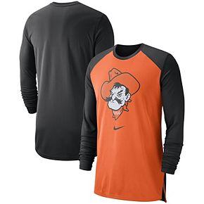 Men's Nike Orange Oklahoma State Cowboys On-Court Basketball Elite Performance Long Sleeve T-Shirt