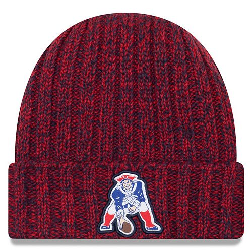 Women's New Era Red New England Patriots 2018 NFL Sideline Cold Weather Historic Knit Hat
