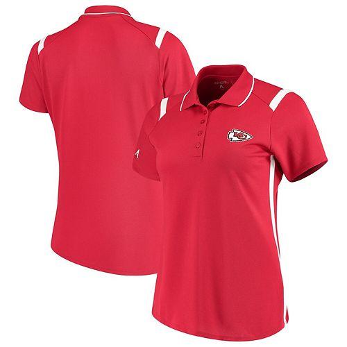 Women's Antigua Red/White Kansas City Chiefs Merit Polo