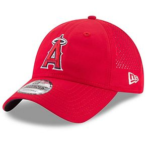 Men's New Era Red Los Angeles Angels Perforated Pivot 9TWENTY Adjustable Hat