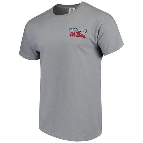 Men's Gray Ole Miss Rebels Comfort Colors Campus Scenery T-Shirt