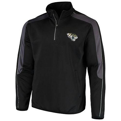 Men's G-III Sports by Carl Banks Black Jacksonville Jaguars I Formation Quarter-Zip Pullover Jacket