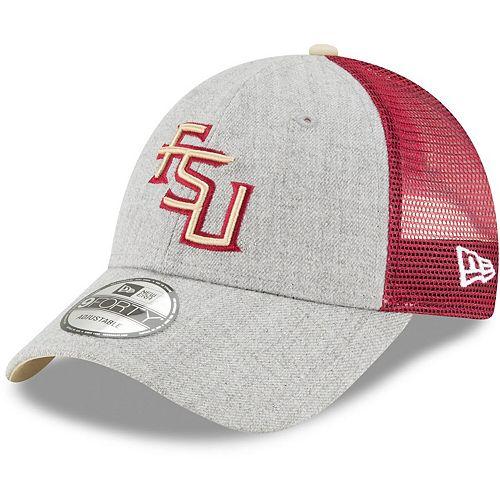 Men's New Era Heathered Gray/Garnet Florida State Seminoles Turn 9FORTY Adjustable Snapback Hat