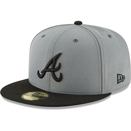 Men's New Era Gray/Black Atlanta Braves Two-Tone 59FIFTY Fitted Hat