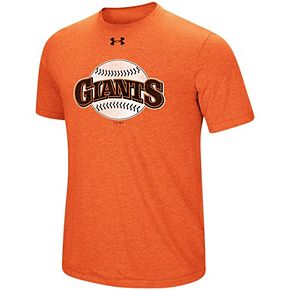 Men's Under Armour Heathered Orange San Francisco Giants Cooperstown Collection Mark Performance Tri-Blend T-Shirt
