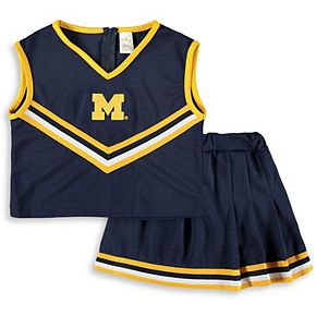 Girls Toddler Navy Michigan Wolverines Two-Piece Cheer Set