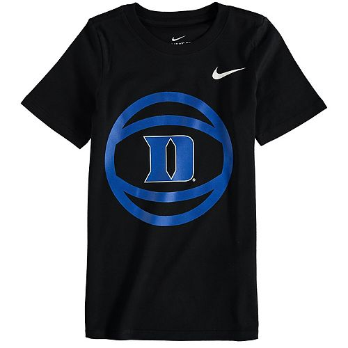 Preschool Nike Black Duke Blue Devils Basketball and Logo T-Shirt