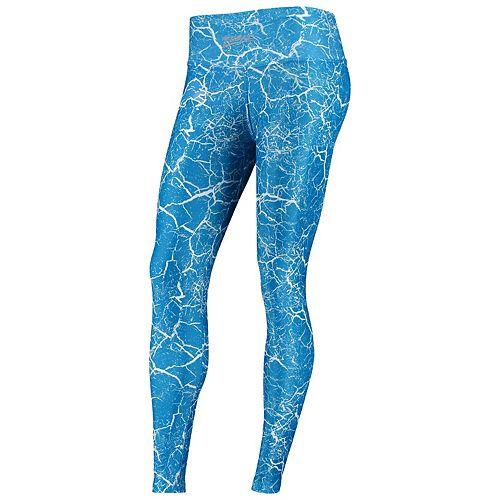 Women's Zubaz Blue/Silver Detroit Lions Marble Leggings
