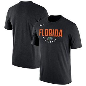 Men's Nike Black Florida Gators Basketball School Name Performance T-Shirt