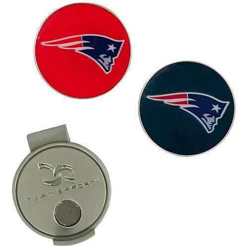 New England Patriots Hat Clip & Ball Markers Set