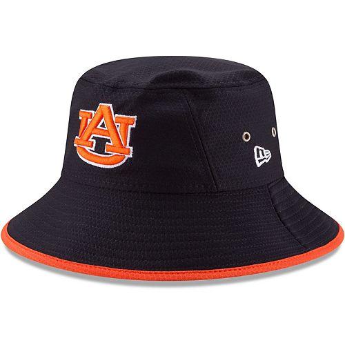 Men's New Era Navy Auburn Tigers Hex Team Bucket Hat
