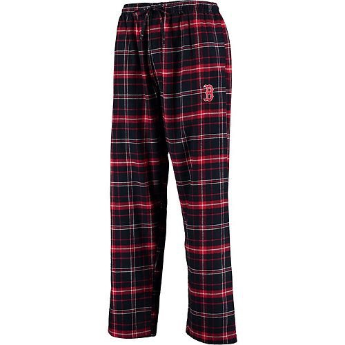 Men's Concepts Sport Navy/Red Boston Red Sox Ultimate Plaid Flannel Pants