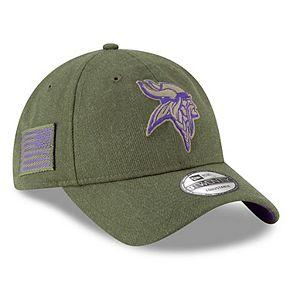 Women's New Era Olive Minnesota Vikings 2018 Salute to Service Sideline 9TWENTY Adjustable Hat