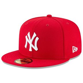Men's New Era Scarlet New York Yankees Fashion Color Basic 59FIFTY Fitted Hat