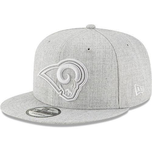 Men's New Era Gray Los Angeles Rams Twisted Frame 9FIFTY Adjustable Snapback Hat