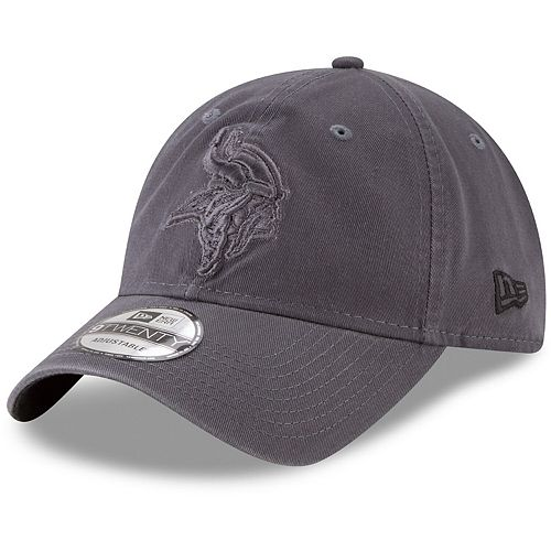 Men's New Era Graphite Minnesota Vikings Core Classic Tonal 9TWENTY Adjustable Hat