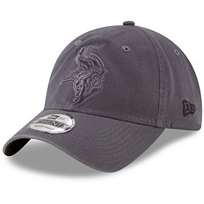 Men's New Era Graphite Minnesota Vikings Core Classic Tonal 9TWENTY Adjustable Hat