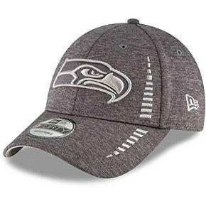 Men's New Era Graphite Seattle Seahawks Speed Shadow Tech 9FORTY Adjustable Hat