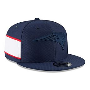 Men's New Era Navy New England Patriots 2018 NFL Sideline Color Rush Official 9FIFTY Snapback Adjustable Hat