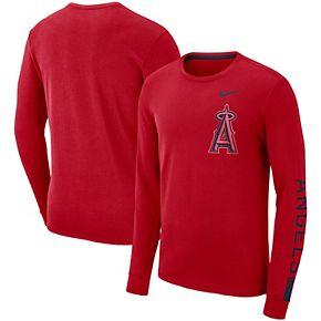 Men's Nike Red Los Angeles Angels Heavyweight Long Sleeve T-Shirt
