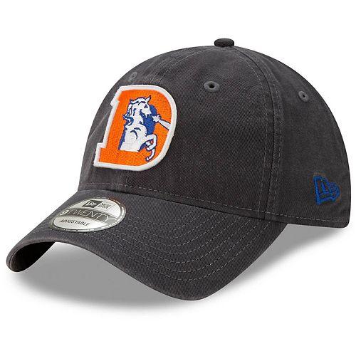 Men's New Era Denver Broncos Graphite Core Classic Team Logo 9TWENTY Adjustable Hat