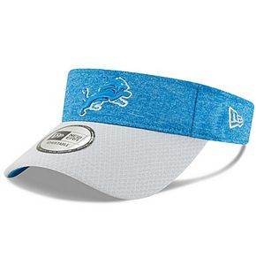 Men's New Era Blue/Gray Detroit Lions 2018 NFL Sideline Home Official Visor