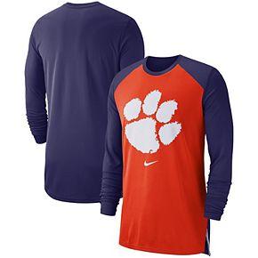 Men's Nike Orange Clemson Tigers On-Court Basketball Elite Performance Long Sleeve T-Shirt