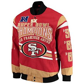 Men's G-III Extreme Scarlet San Francisco 49ers Gladiator Commemorative Cotton Twill Jacket