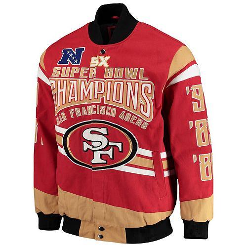 Men's G-III Extreme Scarlet San Francisco 49ers Gladiator Commemorative Cotton Twill Jacket