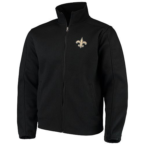 Men's G-III Sports by Carl Banks Black New Orleans Saints QR Audible Full-Zip Fleece Jacket