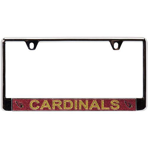 Arizona Cardinals Acrylic Glitter Team Logo License Plate Frame